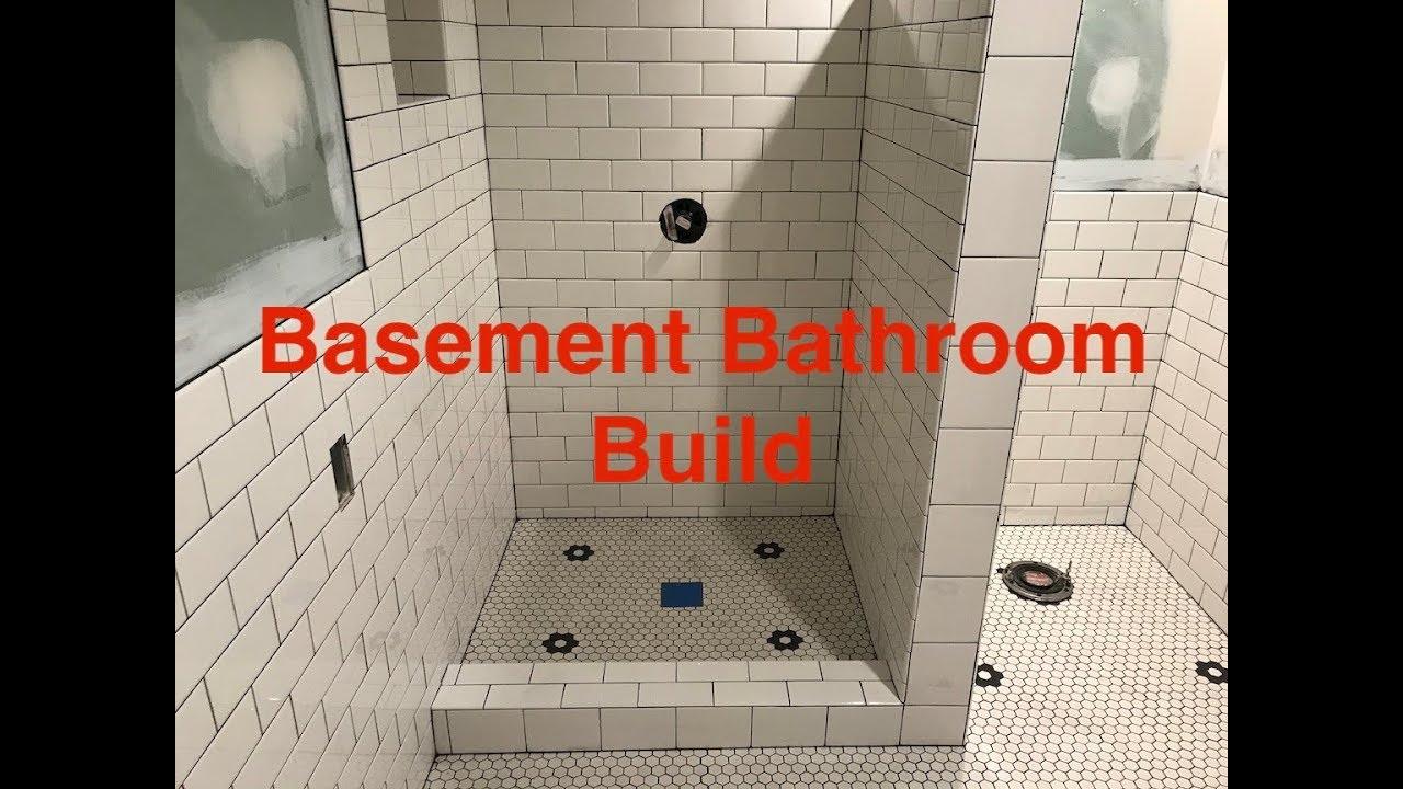 Basement Bathroom Build Part 1 You, Diy Basement Bathroom