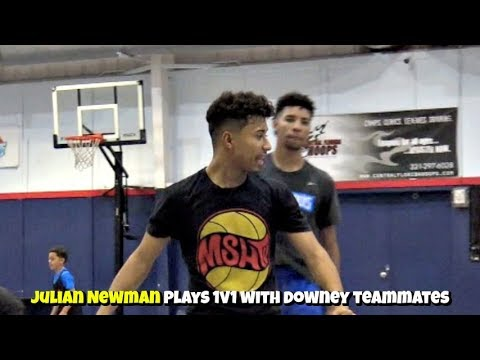 Julian Newman Plays ANGRY! 1v1 with Downey Teammates! Competitive Pick Up Games