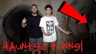 EXPLORING HAUNTED TUNNEL WITH FAZE RUG
