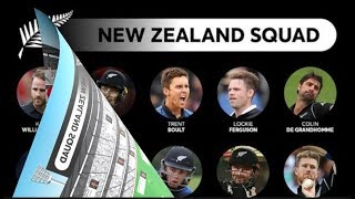 ICC World Cup 2019, Team New Zealand - Current Team Standings, Entire Team, Matches to be played