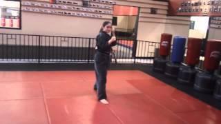 Kicking Combination Number 4 by 3rd degree Black Belt Sensei Dru Morin