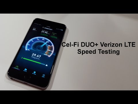 Cel Fi Duo For Verizon Lte Signal Booster Speed Test Demonstration