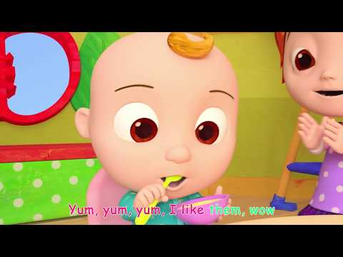 Yum Yum Vegetables Song | + More Nursery Rhymes & Kids Songs - ABCkidTV