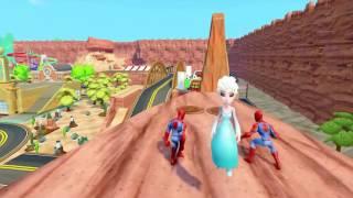 37 子供のビデオのためのスパイダーマンヴェノムおかしいによって拉致スパイダーマンとエルザ、ディズニー冷凍エルザ
