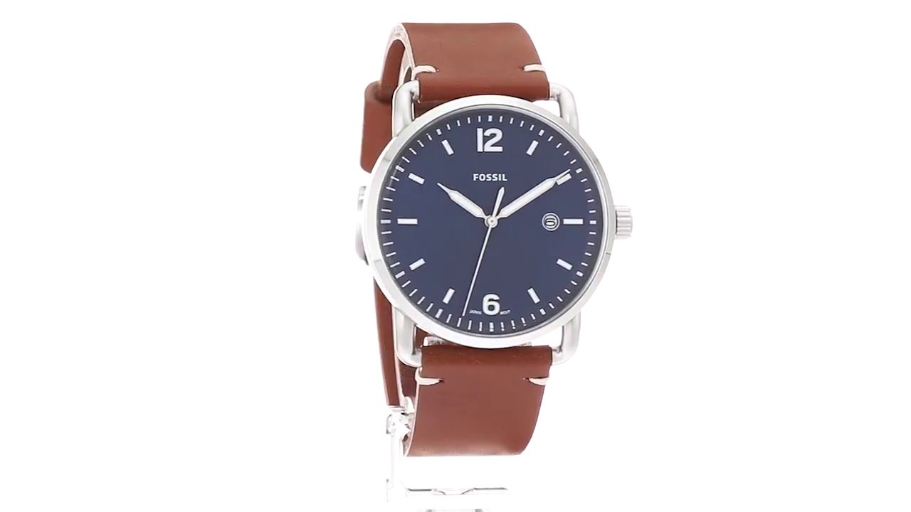 32a53a8da3ab Fossil The Commuter Leather - FS5325 SKU 8887627 - YouTube