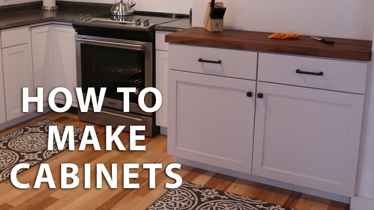How to Make DIY Kitchen Cabinets - YouTube