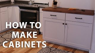DIY Kitchen Cabinet Tutorial - In this episode we