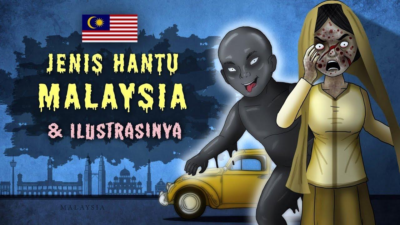 Jenis Hantu Malaysia Ilustrasinya Orang Minyak Pontianak Kartun Hantu Cerita Misteri Horor Youtube
