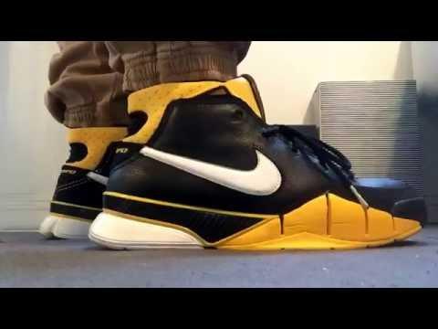 Zoom Kobe 1 Maize On Feet