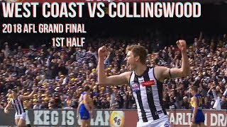 West Coast Eagles vs Collingwood Grand final 2018 All the goals, behinds & highlights 1stHALF