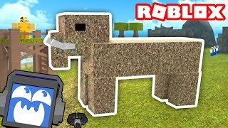 Booga Booga CAVEMAN SIMULATOR in ROBLOX! (Mammoths!) ► Fandroid the Musical Music Robot!