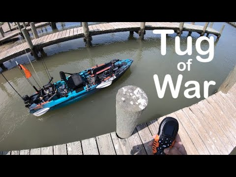 Monster Fish Vs. Old Town Autopilot 120, Blue Crabs At Texas City Dike