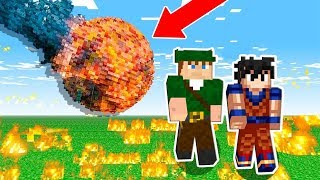 METEOROS DESTRUÍRAM A CASA DO MEU AMIGO NO MINECRAFT!!