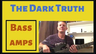 How to connect bass amp head to cabinet-The Dark Truth of Amplifiers explained.