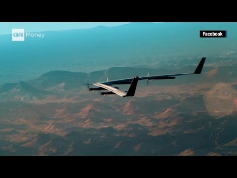 Watch Facebook's internet drone make its first full-scale flight