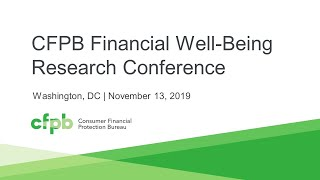 CFPB Financial Well-being Research Conference — consumerfinance.gov
