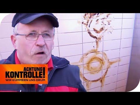 Ekelhaft! Braune 'Kunst' an Toilettenwand! Wer macht so etwas?   Achtung Kontrolle   kabel eins