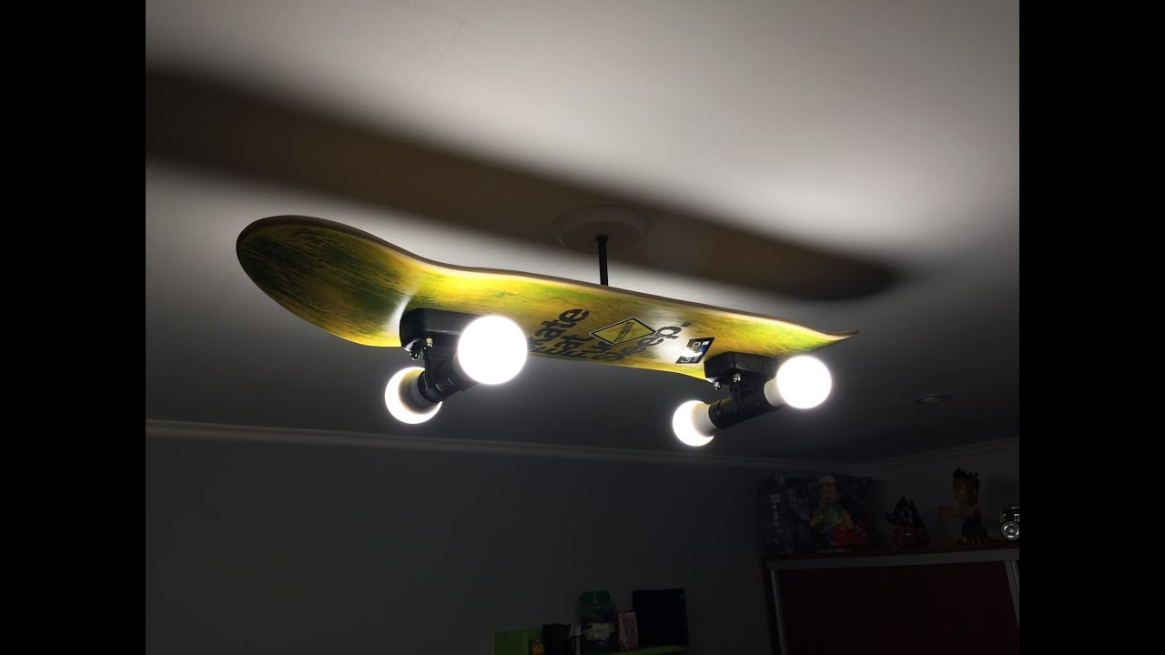 How to make a cool skate lamp youtube solutioingenieria Choice Image