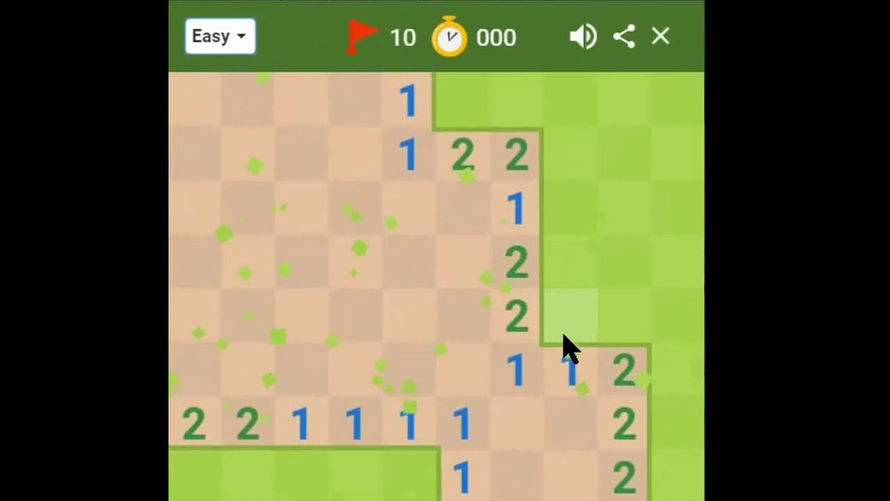 Google Minesweeper speedrun (0:08 25)