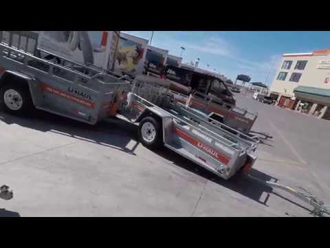 Uhaul 5x9 Motorcycle Trailer Vs 4x9 Motorcycle Traier Review Youtube