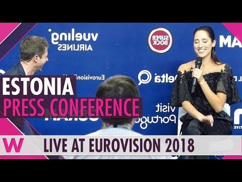 "Estonia Press Conference: Elina Nechayeva ""La Forza""  @ Eurovision 2018 | wiwibloggs"