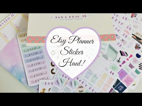 Life Planner Sticker Haul from Etsy  Let&39;s Plan It