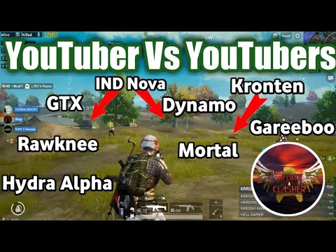 Alpha Clasher Team Vs Kronten,Gtx, Team IND, Mortal, Rawknee, Gareeboo, Dynamo |Youtuber Vs Youtuber