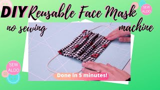 How to make a face mask tutorial hand sew reusable and washable