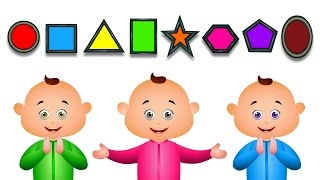 Learn Shapes For Babies And Many More - JamJammies Fun Songs - Nursery Rhymes Compilation