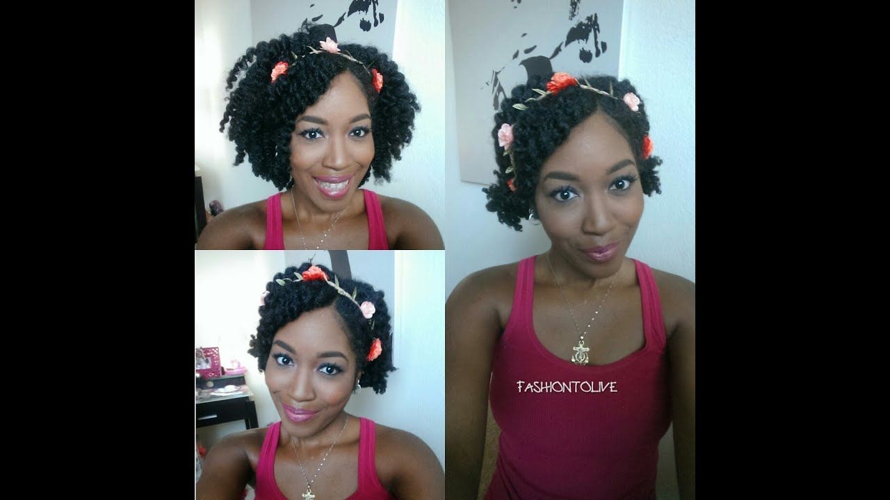 Natural hair 3 easy summer hairstyles with a flower crown youtube natural hair 3 easy summer hairstyles with a flower crown izmirmasajfo