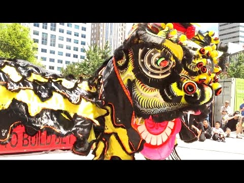 2016 Lion Dance Performance - Boston Main Street Community - Stage Event in Chinatown
