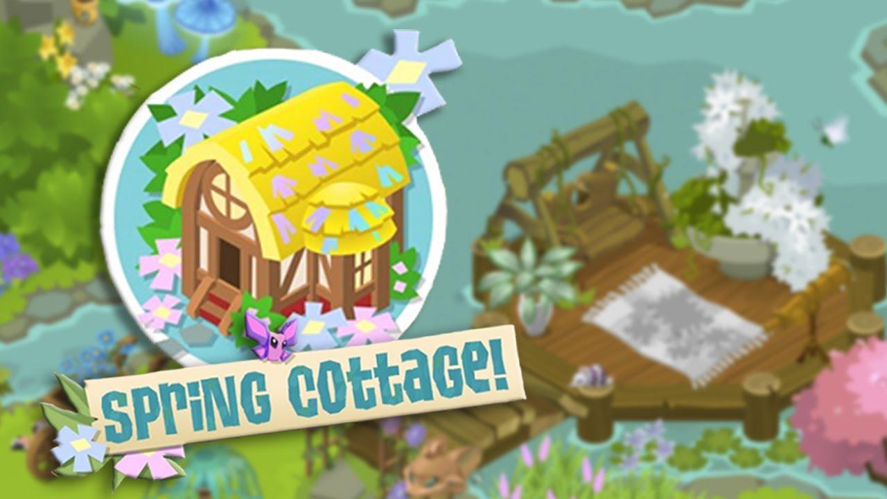 animal jam enchanted spring cottage speed den decorating youtube