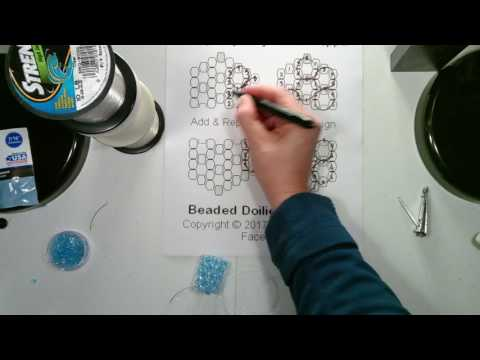 TT Doily Beaded Curtain Beading Tutorial - 1 N part 2