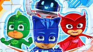 Герои в Масках Друзья  собираем пазлы для детей с героями мультика PJ Masks
