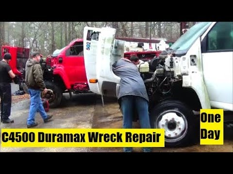 Fixing Bobby's Totaled Duramax Truck In One Day