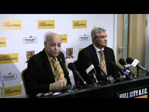Hull City press conference to introduce new manager Steve Bruce