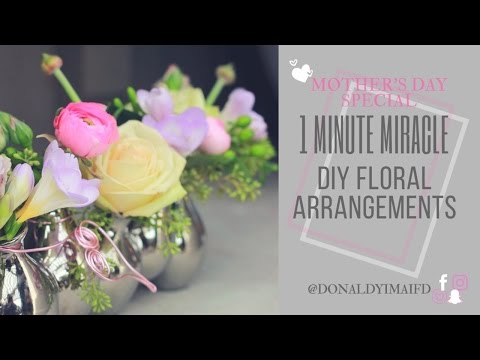 1 Minute Miracle | Mother's Day Special | DIY Floral Arrangements