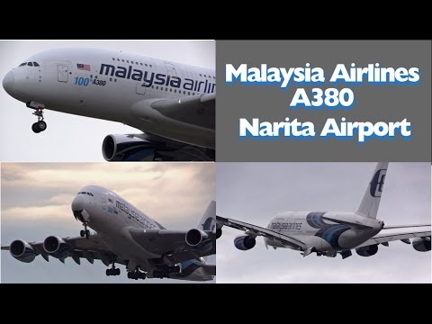 FC Barcelona charter Malaysia Airlines 9M-MNF Airbus A380 Landin & Takeoff  at Narita Airport