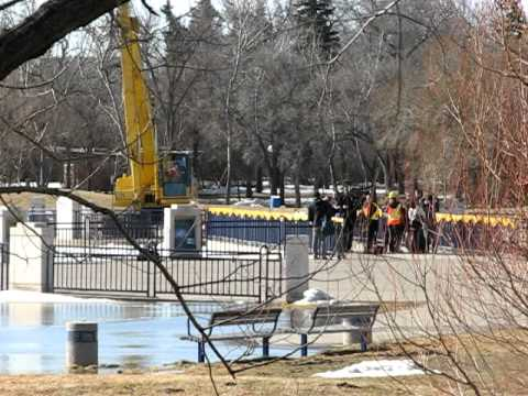 The Opening of The Flood Gates - Regina Flooding April 12, 2011