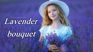 Цветущая лаванда: Букет лаванды для невесты. Свадебная фотосессия на лавандовом поле. (HD)