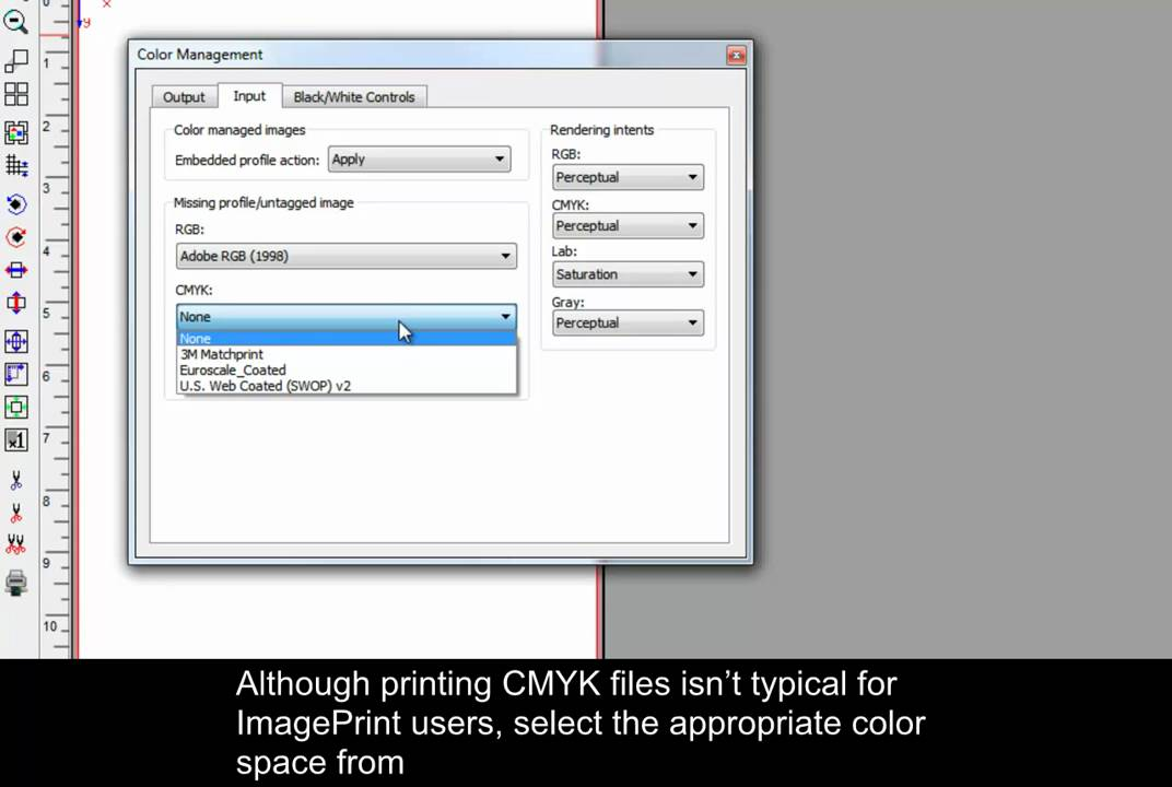 ImagePrint - Color Management Settings