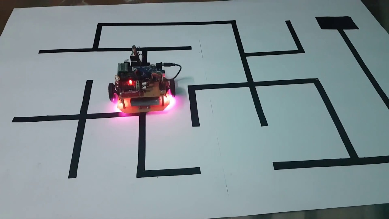Maze solving robot with Shortest Path