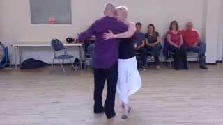 Sara White's Blues Nites. Tango Demo With David & Ann