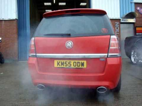 vauxhall zafira vxr exhaust by youtube. Black Bedroom Furniture Sets. Home Design Ideas