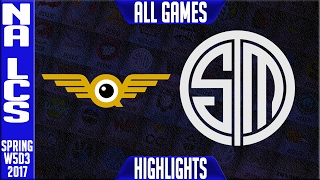 Fly Quest vs TSM Highlights All Games - NA LCS W5D3 Spring 2017 - FLY vs TSM All Games