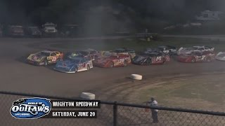 Highlights: World of Outlaws Late Model Series Brighton Speedway June 20th, 2015