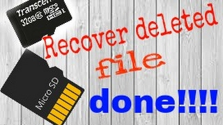 How to recover deleted files from sd card / all devices