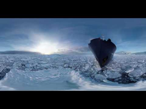 Vidéo 360° Antarctique - Voyage à travers les glaces