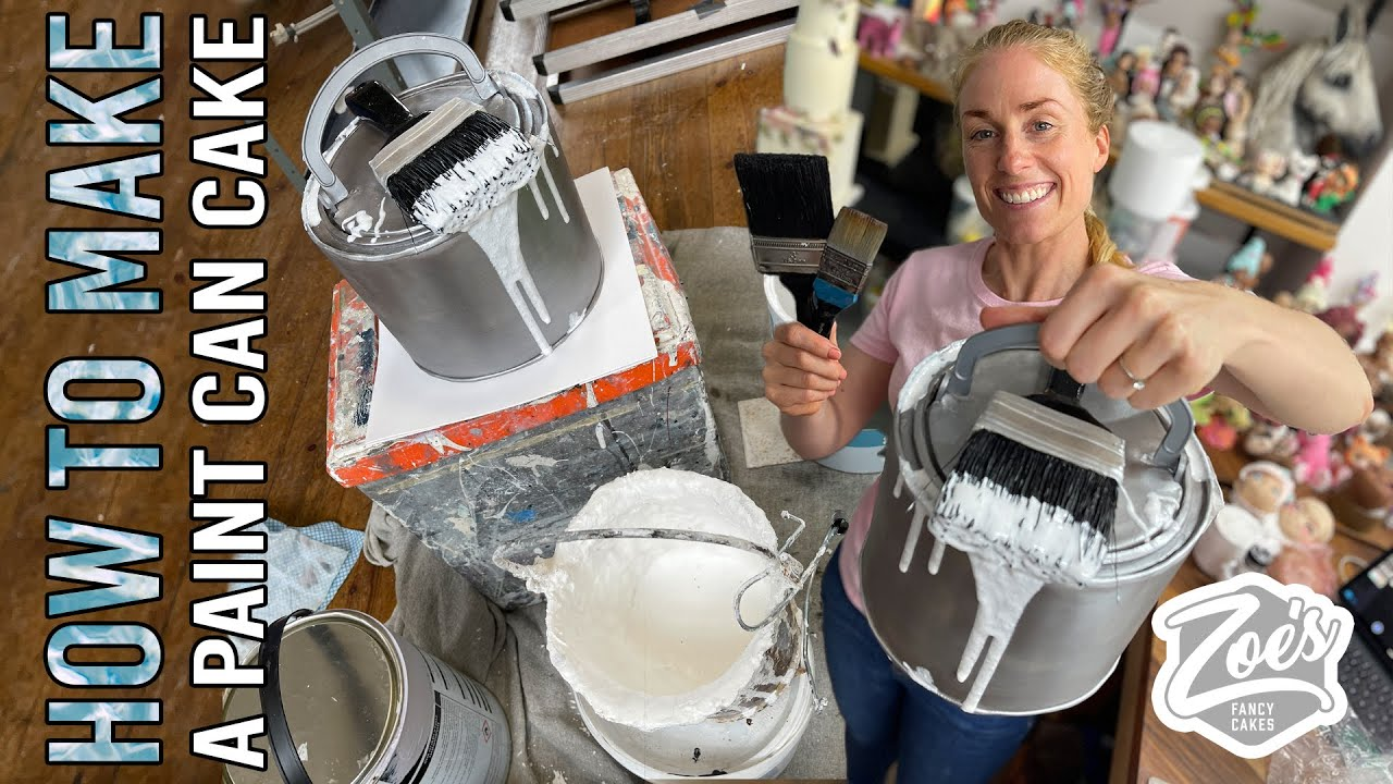 How to Make a Paint Can Cake