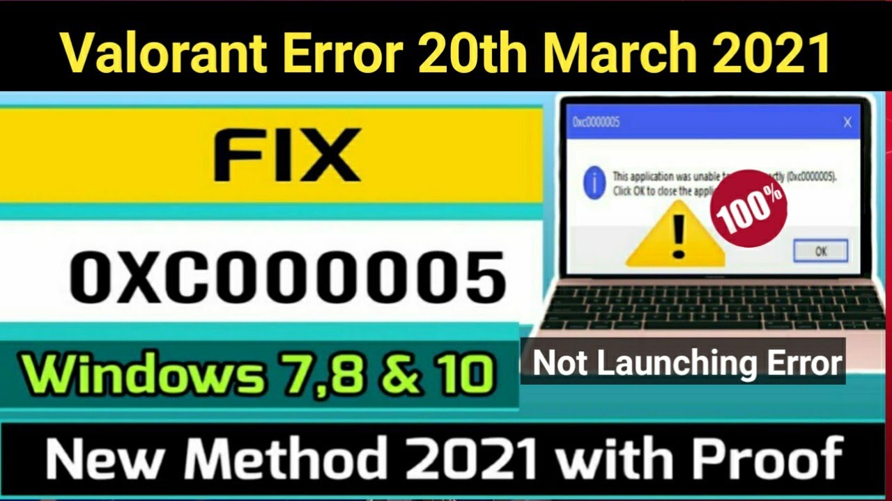 Download How to fix 0xc0000005 in windows| Fix Application was unable to start correctly in windows10/8/7